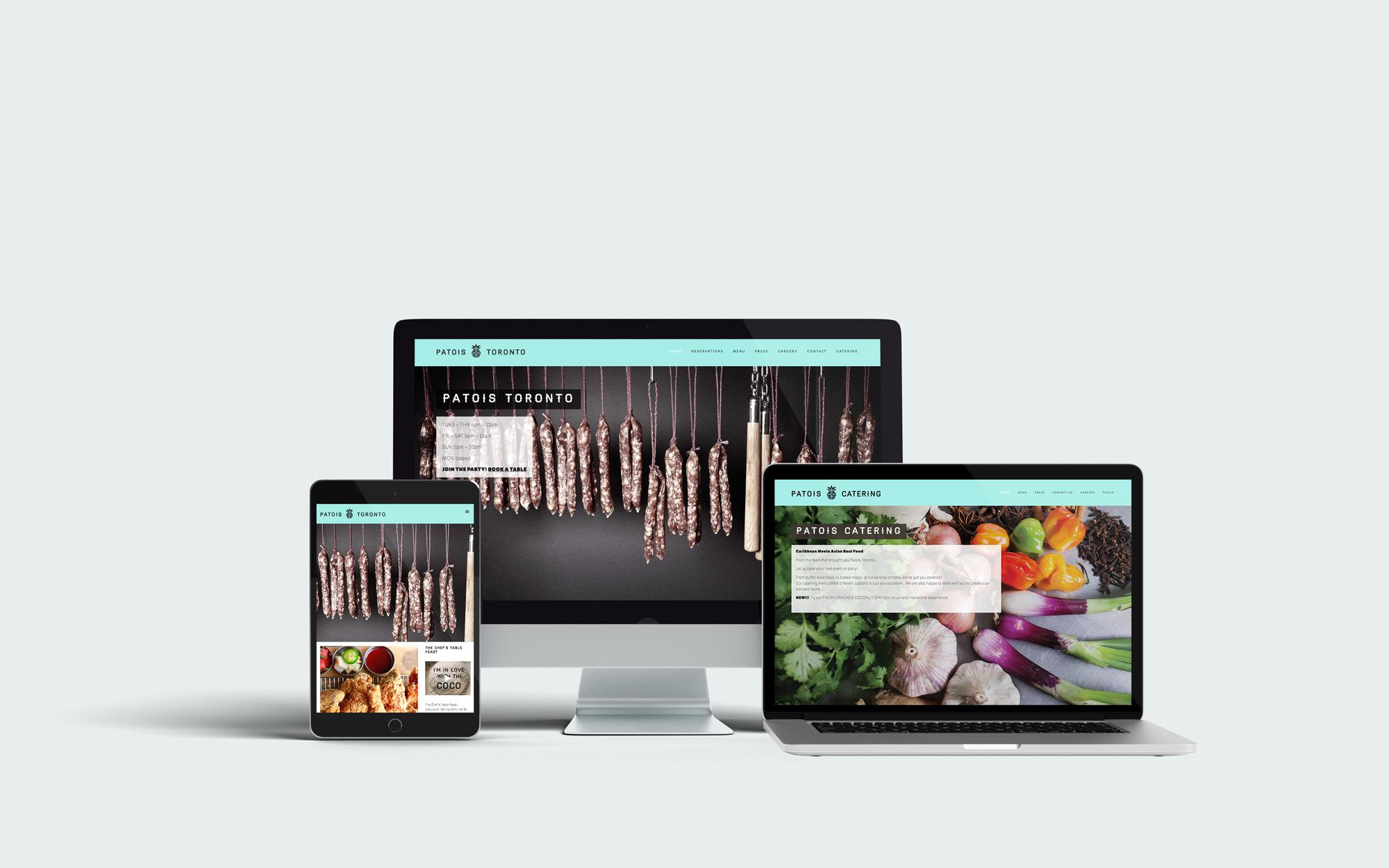 Patois Toronto Website. Designed by Elsie Lam.