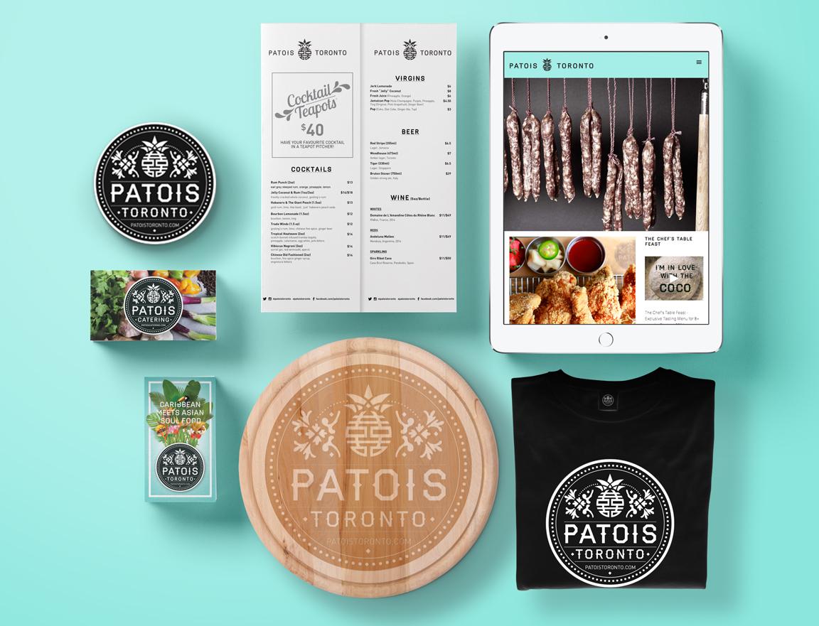 Patios Toronto branding designed by Elsie Lam