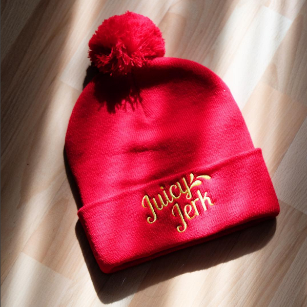 Juicy Jerk winter hat by Patois Toronto.
